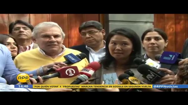 Luis Castañeda se reunió con Keiko Fujimori antes de la segunda vuelta