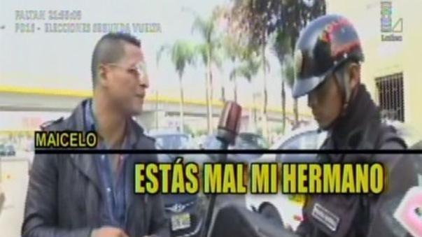 Jonathan Maicelo fue detenido por la policía.
