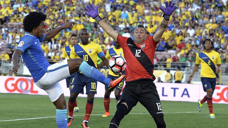 Brasil y Ecuador protagonizaron un juego discreto.