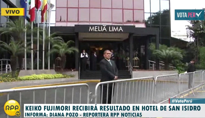 #VotaPerú: Keiko Fujimori recibirá resultados en hotel de San Isidro. http://rpp.pe/