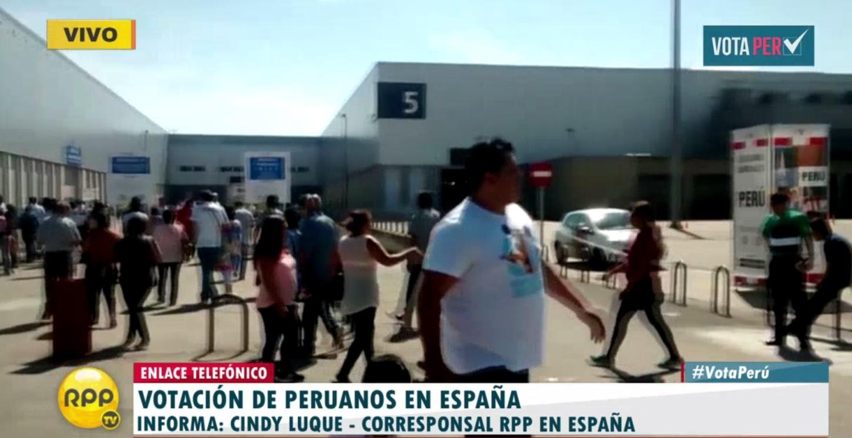 #VotaPerú: Cerca de 118 mil peruanos votan en España.