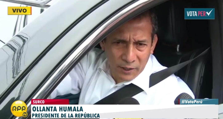 """#VotaPerú: Humala """"Espero que el próximo presidente continúe lo bueno en educación"""""""
