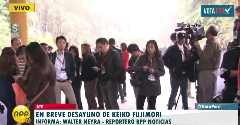 #VotaPerú Keiko Fujimori desayunará en local de Ate con presencia de prensa japonesa.