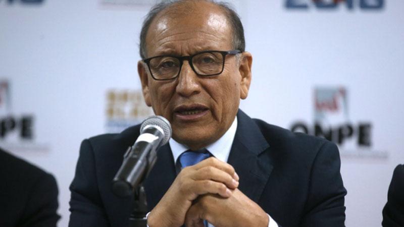 El jefe de la ONPE, Mariano Cucho, hizo un llamado a la población y a los partidos políticos a esperar con calma los resultados.