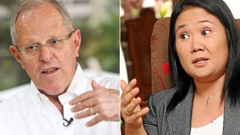 PPK y Keiko Fujimori esperarán los resultados oficiales de la ONPE, que será dado a conocer a las 9:00 pm.