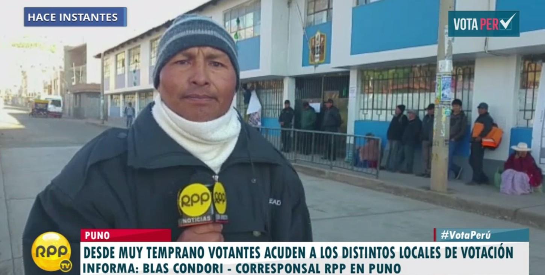 #VotaPerú En Puno ya forman colas para votar.