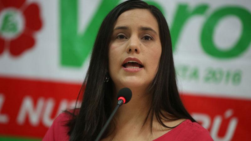 Verónika Mendoza descarta acuerdo con PPK y reitera que apoyo buscó cerrar paso al fujimorismo.