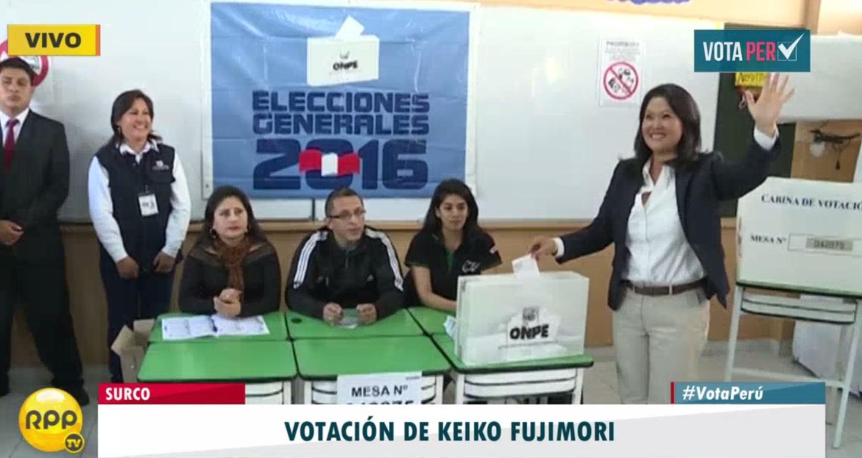 #VotaPerú: Keiko Fujimori emite su voto