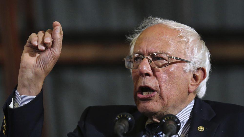 Sanders presidió un discurso pocas horas después de que Hillary Clinton se autoproclamara vencedora de las primarias.