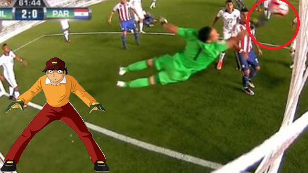 David Ospina y su soberbia tapada en la Copa América.