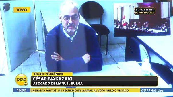 """Para César Nakasaki, abogado del expresidente de la FIFA, la """"conspiración no es delito en Perú para extraditar a Manuel Burga""""."""
