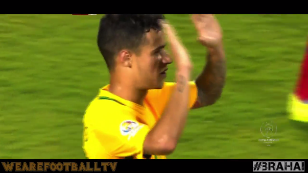 Coutinho marcó un golazo en el Brasil 7-1 Haití