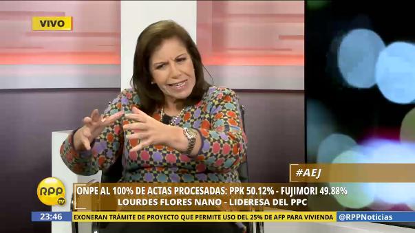 Lourdes Flores aseguró que si le piden el apoyo de su partido en este gobierno, aceptarían de buena manera porque son de 'centro'.