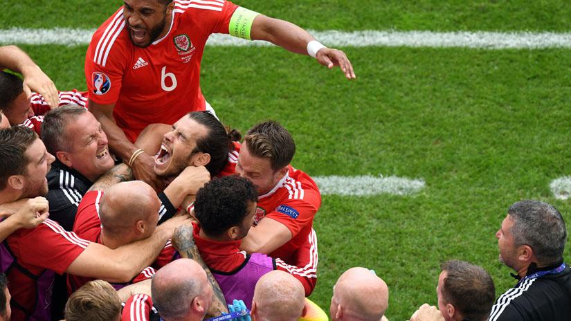 Gareth Bale abrió el marcador en el partido ante Eslovaquia.