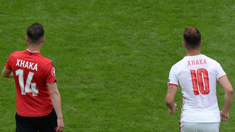 Los hermanos Xhaka ingresaron a la historia de la Eurocopa.