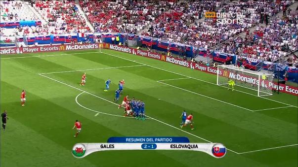 Revive el triunfo 2-1 de Gales sobre Eslovaquia.