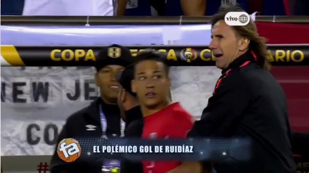 Cristian Benavente estuvo a punto de ingresar al campo pero Ricardo Gareca lo sentó tras el gol de Rául Ruidíaz.