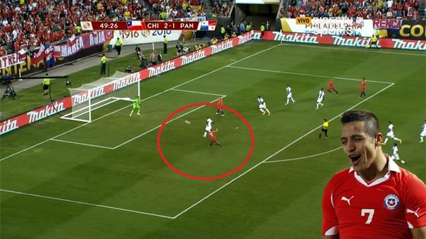 Alexis Sánchez se lució con un impresionante gol de volea.