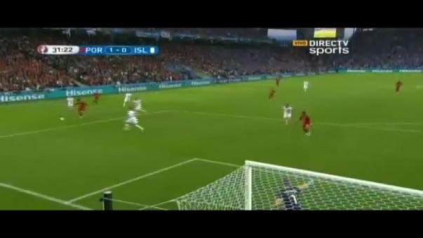 Nani anotó primero para los lusitanos y luego igualó el volante Bjarnason para Islandia.