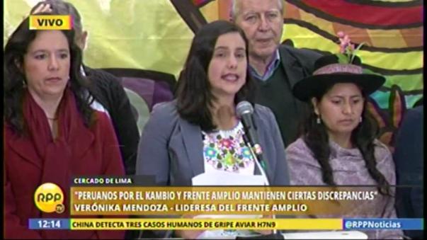 Verónika Mendoza además dijo que las denuncias que vinculan al fujimorismo con el narcotráfico no son agravios porque