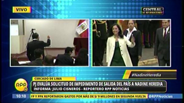 La audiencia se lleva a cabo en la Sala Penal Nacional del Cercado de Lima.