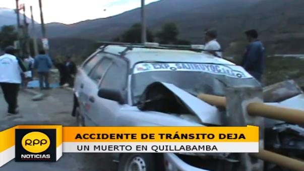 Vehículo chocó intempestivamente contra uno de los estribos de un puente, lo que provocó la muerte del conductor.