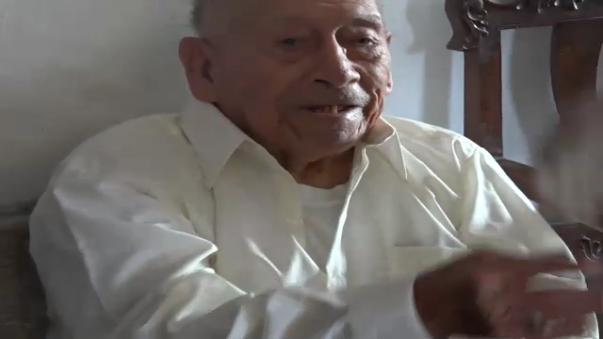 Nicolás Barrantes Sánchez tiene 101 años de vida.