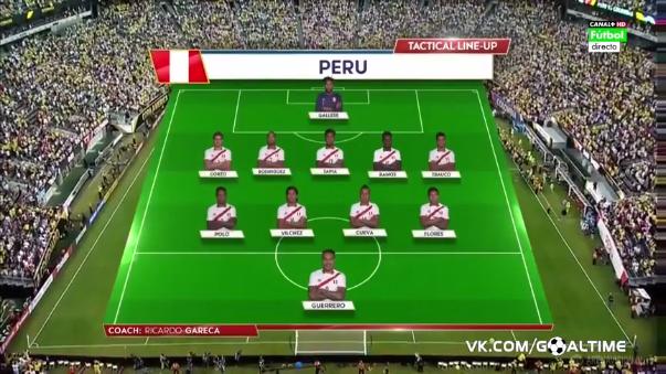 Perú no perdió un solo partido durante los 90 minutos reglamentarios.