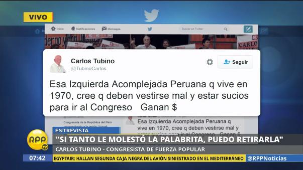 Estas fueron algunas de las críticas de Carlos Tubino.