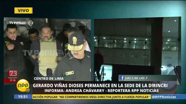 Gerardo Viñas Dioses llegó a Lima enmarrocado y con un chaleco antibalas.