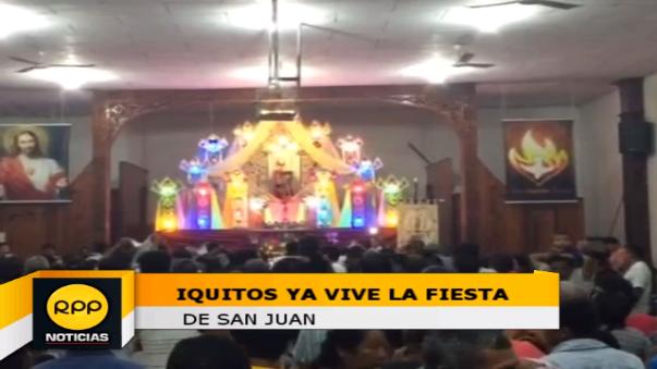En iglesia donde se venera al patrón San Juan la población departe la tradicional chicha y el 'Juane'.