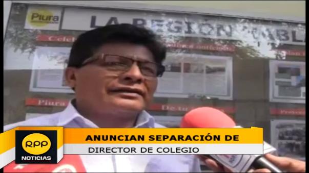 Director regional de Educación Piura, Pedro Periche lamentó que otro docente este involucrado en caso de hostigamiento sexual a escolar.