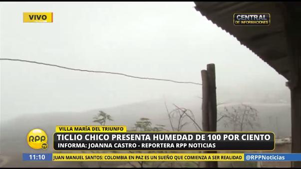 Ticlio Chico, en Villa María del Triunfo, presenta 100% de humedad.
