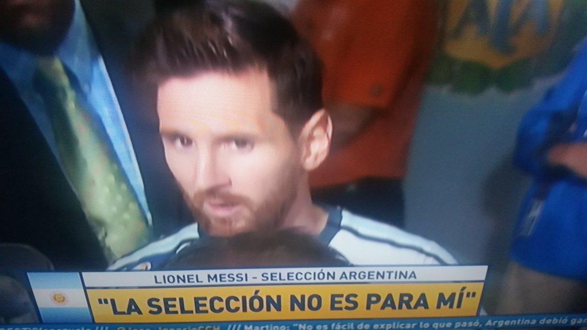 Lionel Messi renunció a la Selección Argentina tras perder la final de la Copa América.