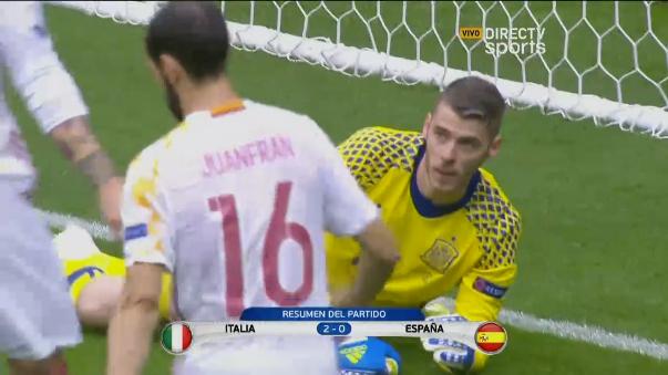 Revive el triunfo 2-1 de Italia sobre España.
