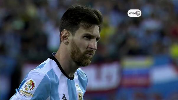 El penal fallado por Lionel Messi en la final de la Copa América Centenario.