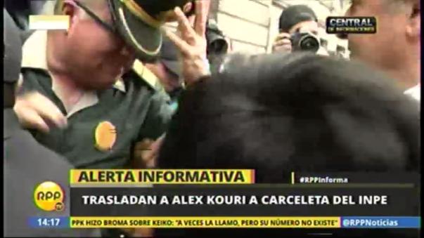 Alex Kouri llegó a la carceleta de Palacio de Justicia a las 2.17 p.m.