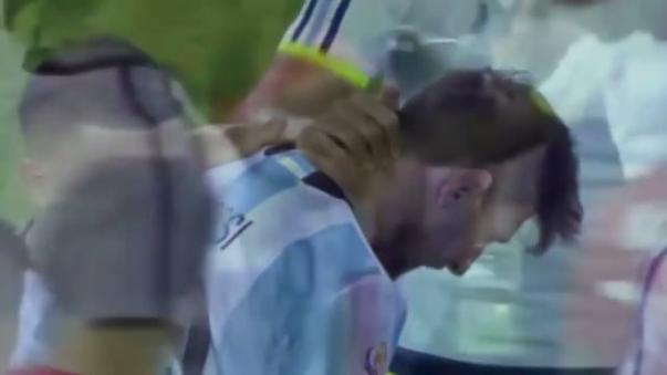 Las lágrimas de Lionel Messi tras perder la final de la Copa América Centenario.