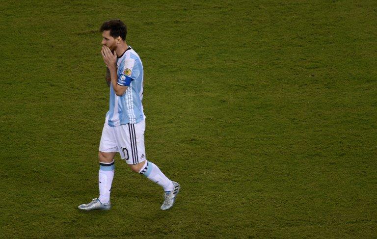 Messi falló el primer disparo de la tanda de penales de Argentina.