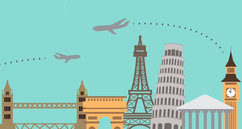Europa, un país atractivo para hacer turismo.