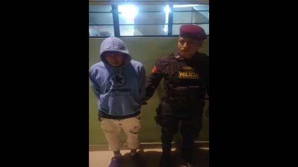 Los sujetos capturados son Elmer Antonio Candiotti Balvin de 28 años y Pablo Gonzales Conde de 18 años.
