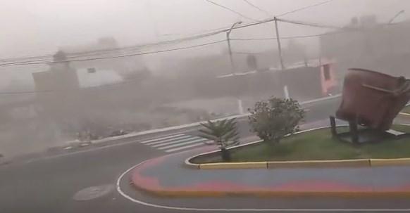Ciudadanos registraron fuertes vientos en la ciudad de Ilo