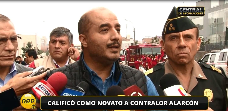 Pérez Guadalupe dijo que ha sido una falta de respeto y de tino que el contralor Edgar Alarcón declare a la prensa sobre el tema de los patrulleros sin antes enviar un informe al Mininter.