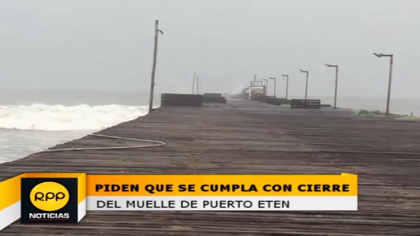 Muelle presenta riesgo para pescadores y población