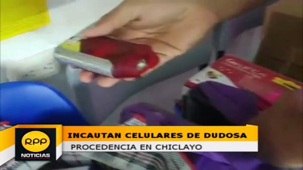 Intervención en tienda céntrica de Chiclayo