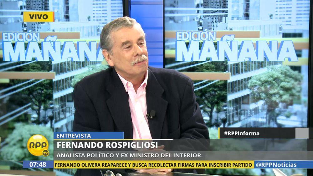 Fernando Rospigliosi no quiso confirmar ni descartar si será el primer ministro del Interior de PPK.
