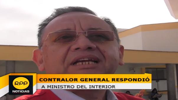 Contralor General de la República respondió ante los cuestionamientos del ministro del Interior tras su investigación sobre la compra de patrulleros.