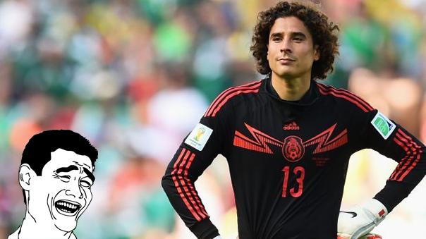 El arquero Guillermo Ochoa sigue siendo víctima de las burlas tras el 7 a 0 ante Chile.