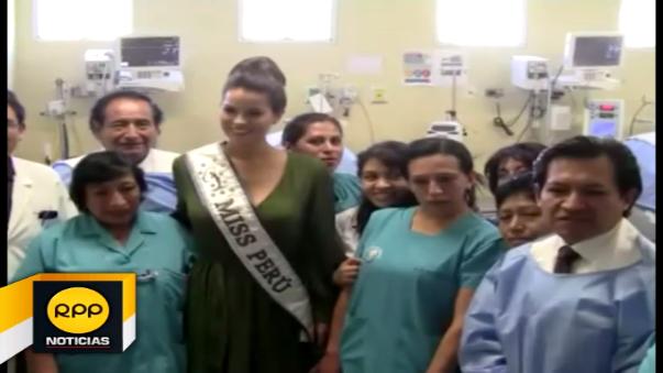Miss Perú en Cajamarca.