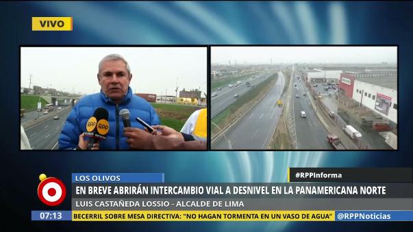 El alcalde Castañeda Lossio negó grandes retrasos en las obras.